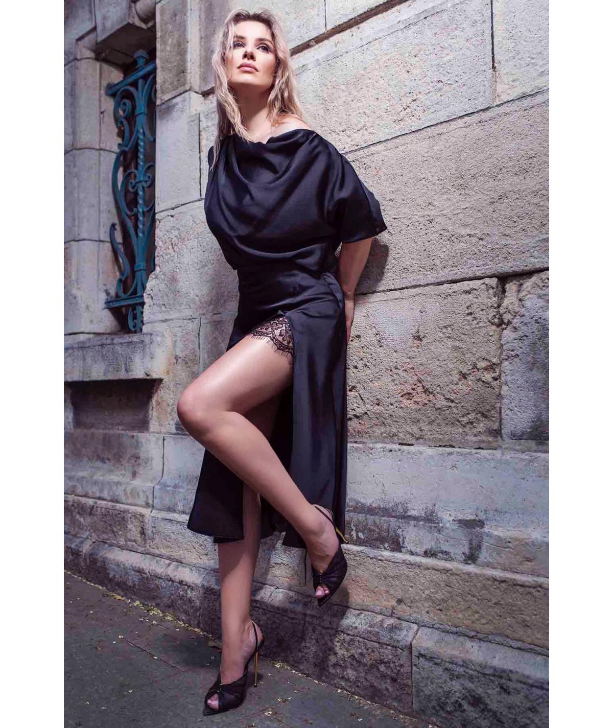 Skirt with asymmetrical...