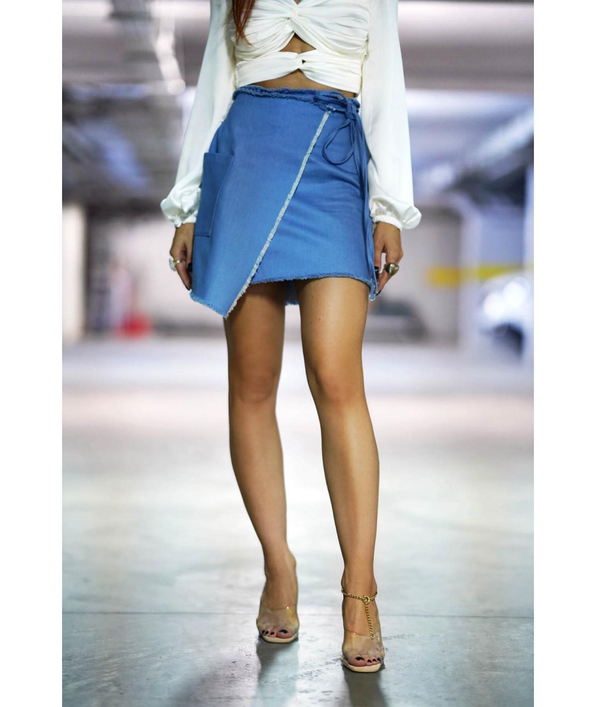 VANESSA SKIRT - Denim skirt...