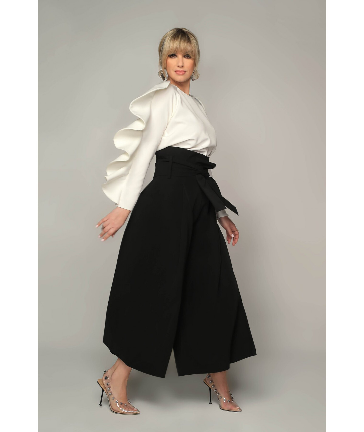 Wide-leg culotte trousers -...