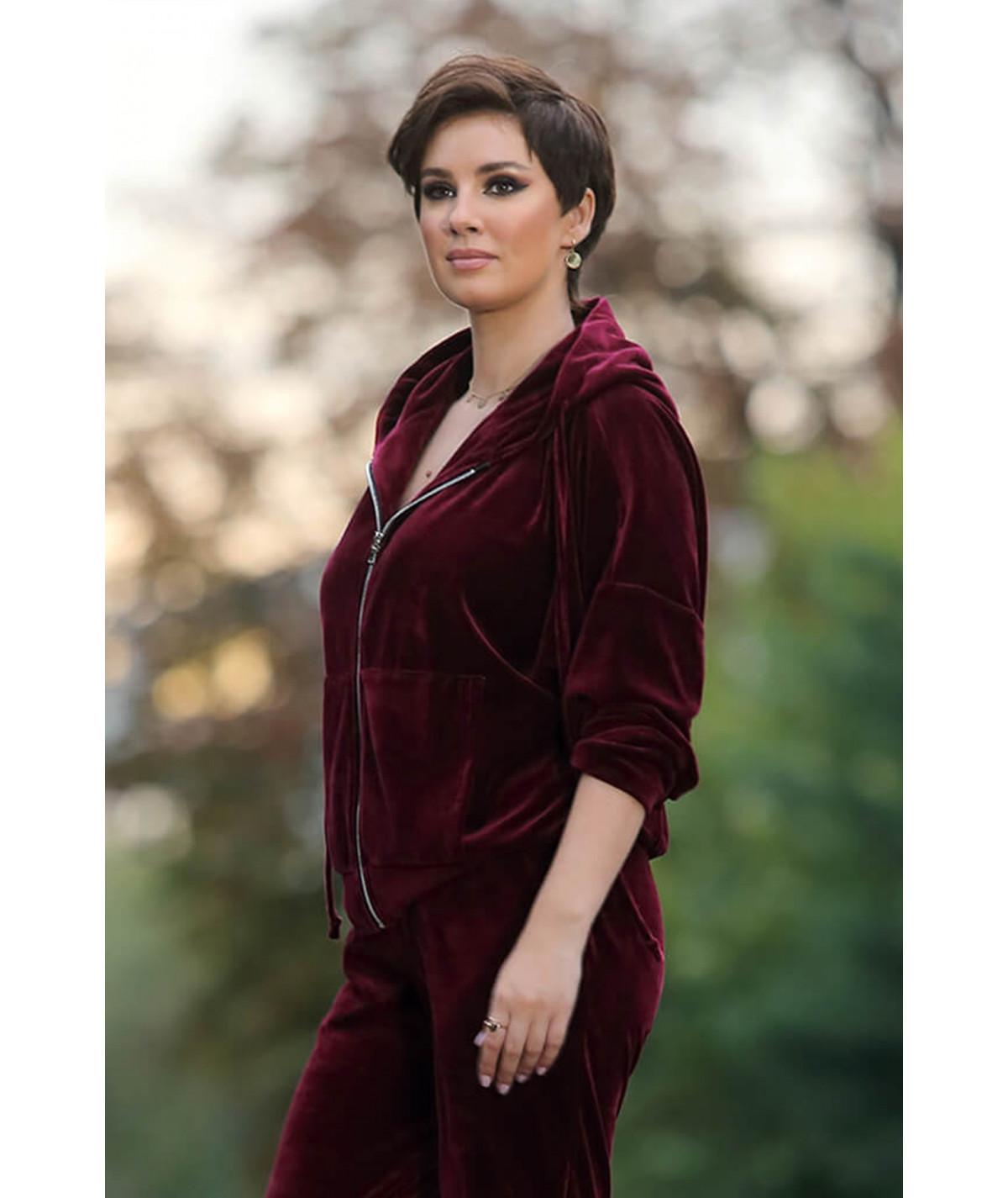 Women's cotton velvet...