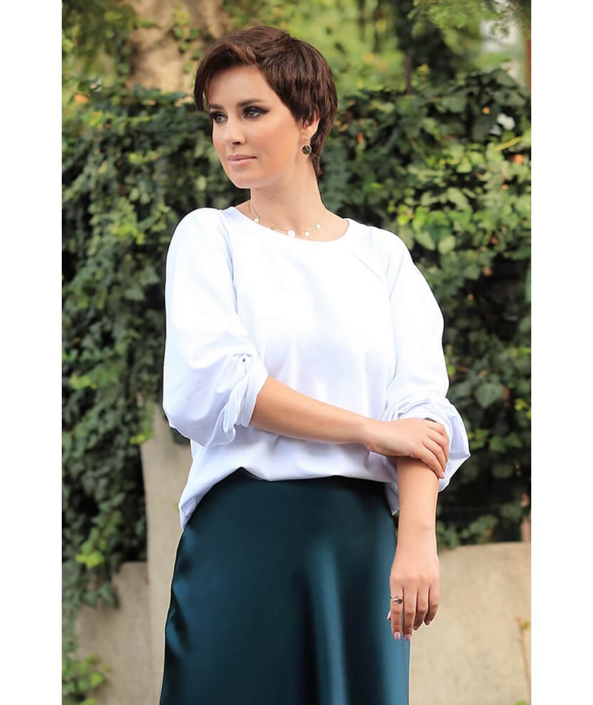 White cotton blouse - White