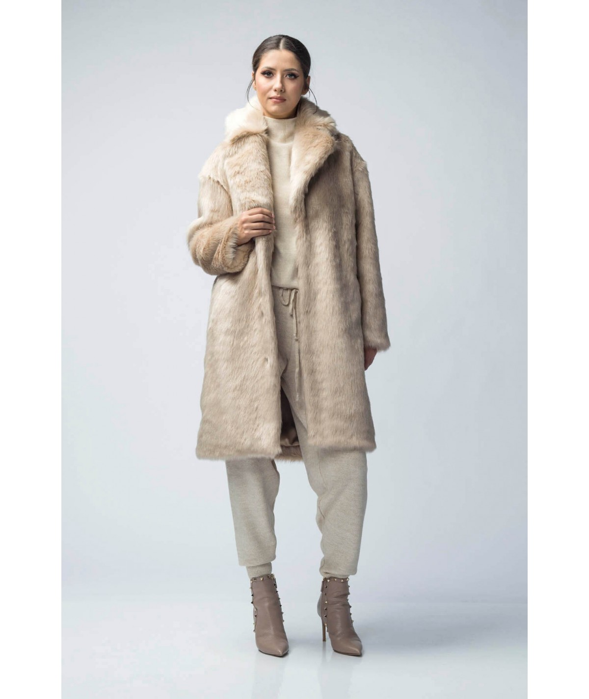 Artificial fur jacket -...