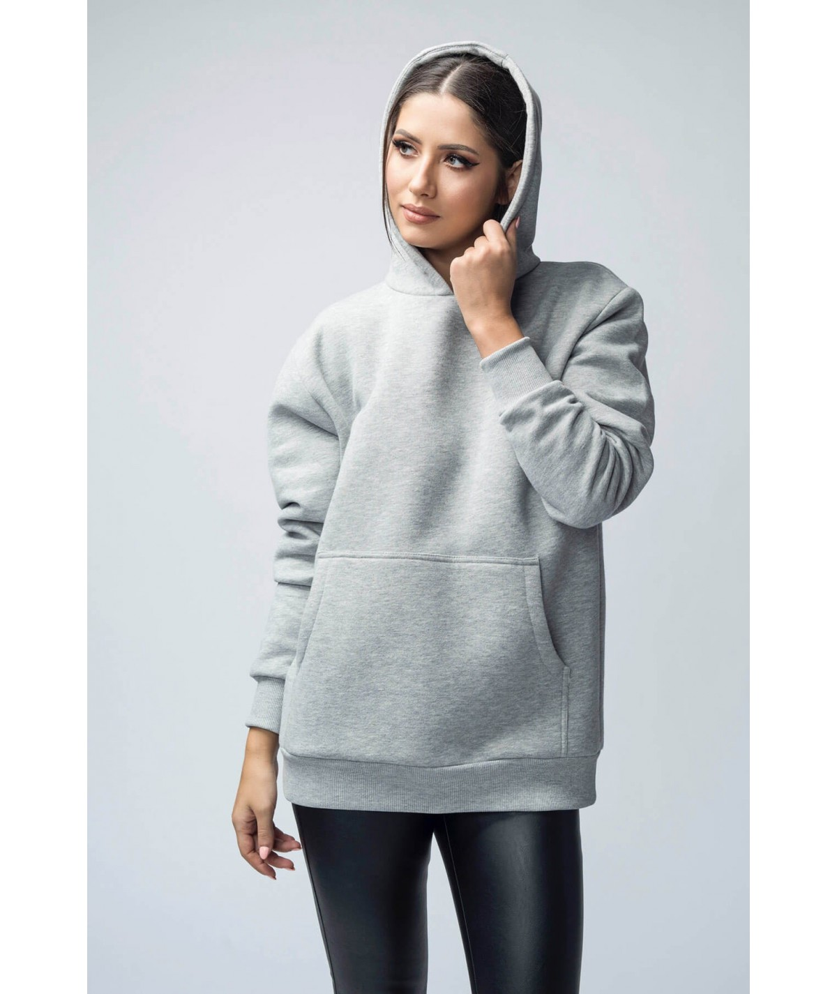 Oversized hooded cotton...